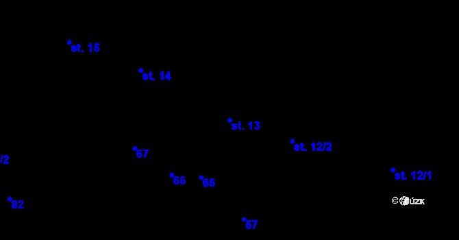 Parcela st. 13 v k.ú. Sedlejov, Katastrální mapa