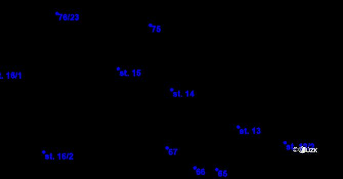 Parcela st. 14 v k.ú. Sedlejov, Katastrální mapa