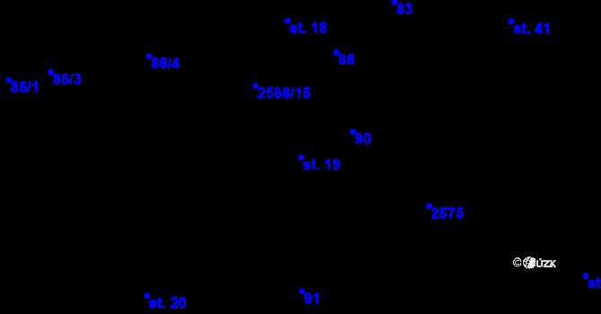 Parcela st. 19 v k.ú. Sedlejov, Katastrální mapa