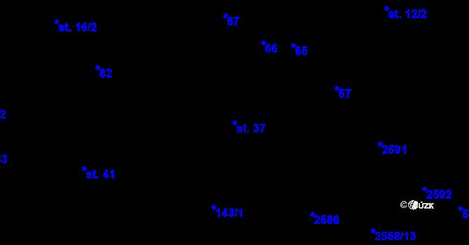Parcela st. 37 v k.ú. Sedlejov, Katastrální mapa