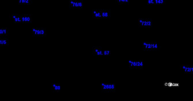 Parcela st. 57 v k.ú. Sedlejov, Katastrální mapa