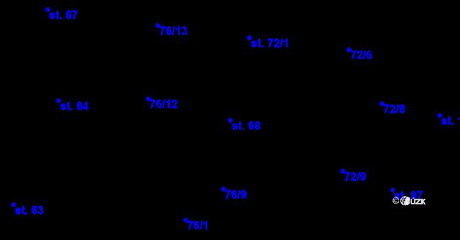 Parcela st. 68 v k.ú. Sedlejov, Katastrální mapa