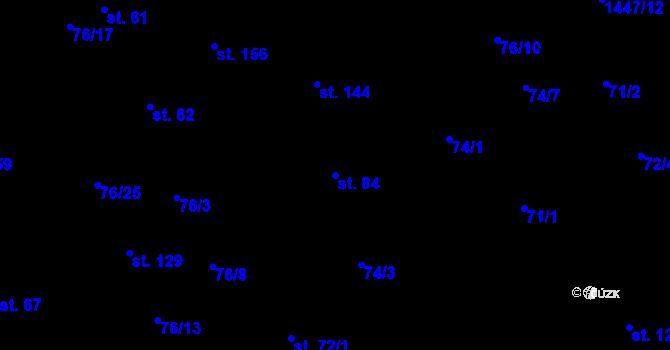 Parcela st. 84 v k.ú. Sedlejov, Katastrální mapa