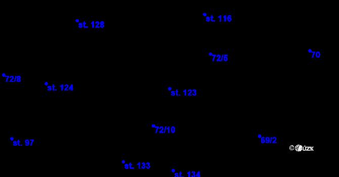 Parcela st. 123 v k.ú. Sedlejov, Katastrální mapa