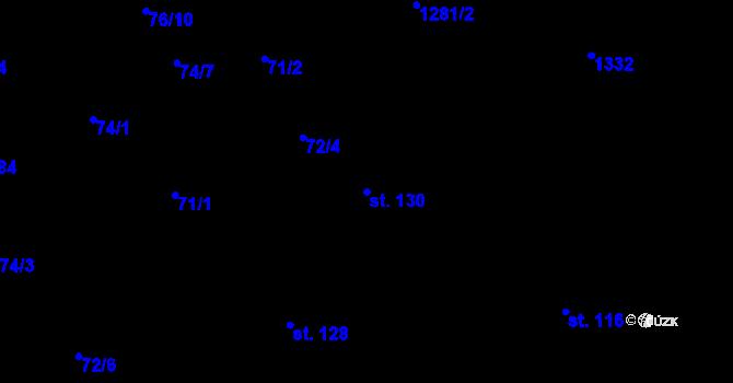 Parcela st. 130 v k.ú. Sedlejov, Katastrální mapa