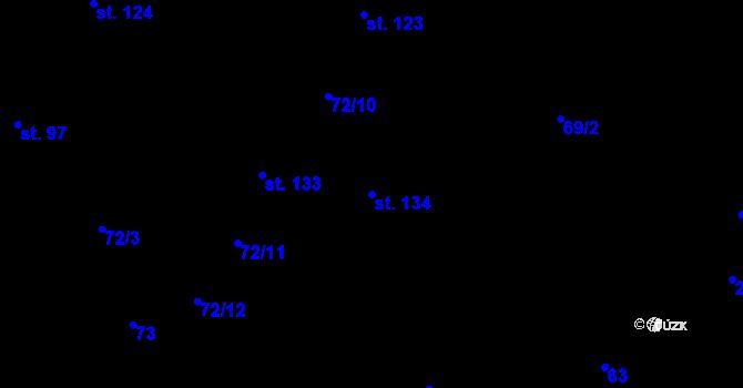 Parcela st. 134 v k.ú. Sedlejov, Katastrální mapa