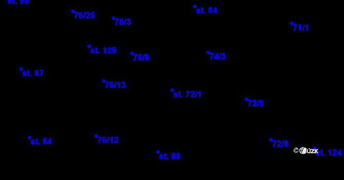 Parcela st. 72/1 v k.ú. Sedlejov, Katastrální mapa