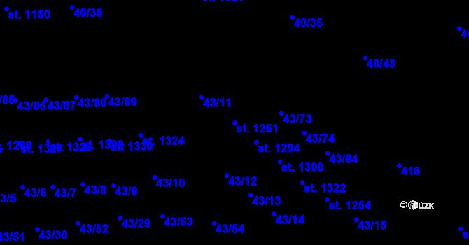 Parcela st. 1261 v k.ú. Semtín, Katastrální mapa