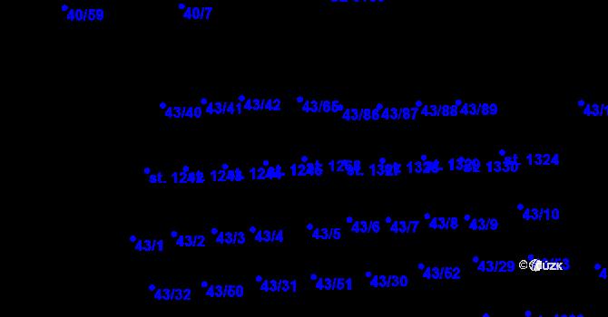 Parcela st. 1268 v k.ú. Semtín, Katastrální mapa