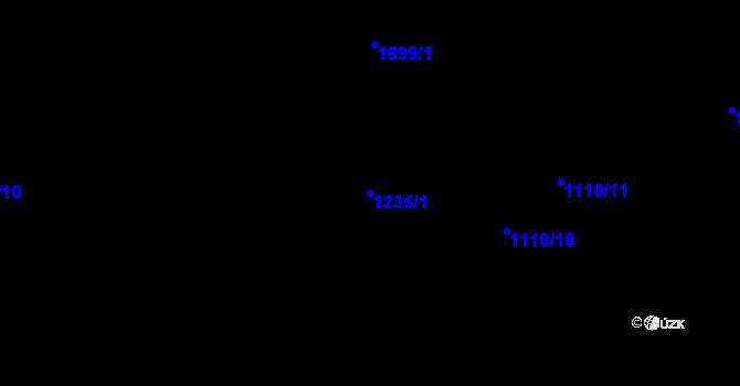 Parcela st. 1235/1 v k.ú. Sezemice nad Loučnou, Katastrální mapa