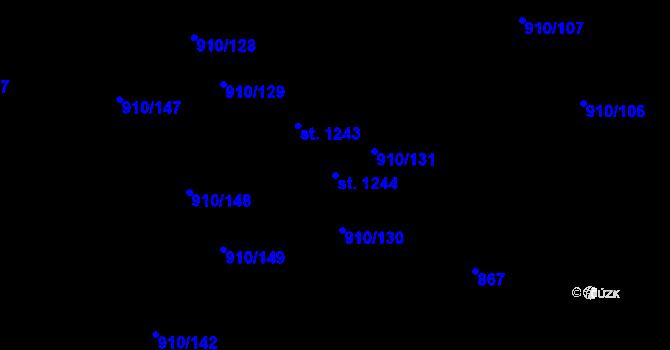 Parcela st. 1244 v k.ú. Sezemice nad Loučnou, Katastrální mapa