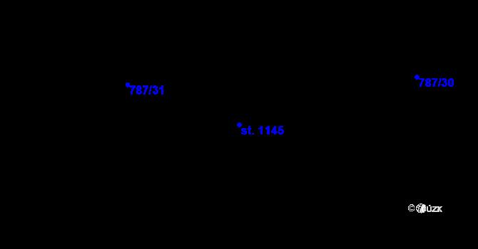 Parcela st. 1145 v k.ú. Skalice u Frýdku-Místku, Katastrální mapa