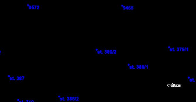 Parcela st. 380/2 v k.ú. Slavonice, Katastrální mapa