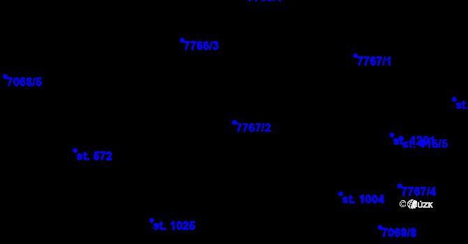 Parcela st. 7767/2 v k.ú. Slavonice, Katastrální mapa