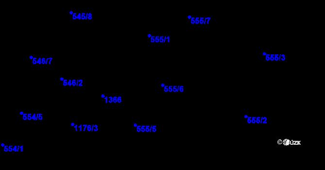 Parcela st. 555/6 v k.ú. Slavonín, Katastrální mapa