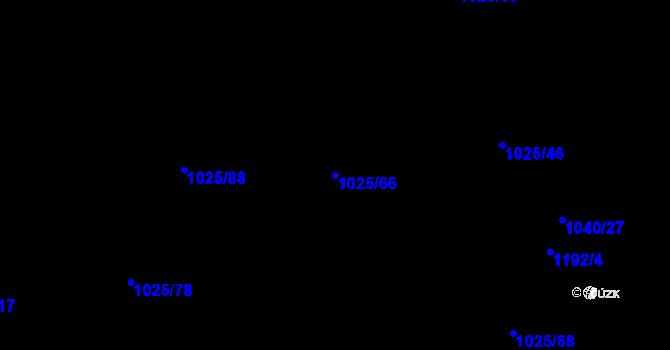 Parcela st. 1025/66 v k.ú. Slavonín, Katastrální mapa