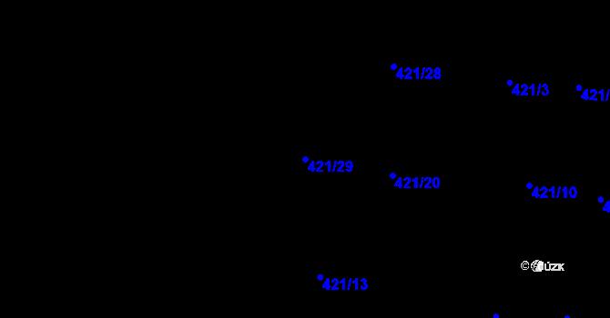 Parcela st. 421/29 v k.ú. Slavonín, Katastrální mapa