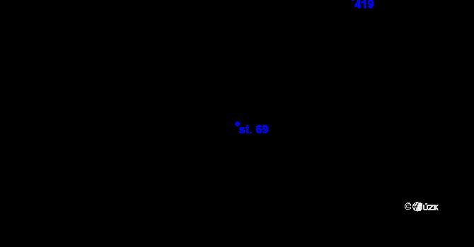 Parcela st. 69 v k.ú. Kojatín, Katastrální mapa