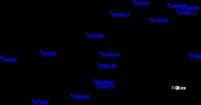 Parcela st. 3769/19 v k.ú. Soběslav, Katastrální mapa