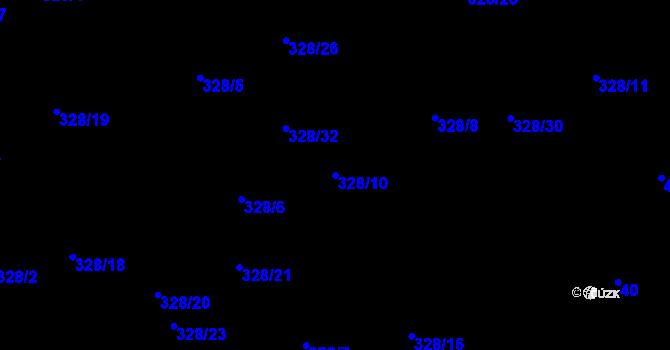 Parcela st. 328/10 v k.ú. Staré Hodějovice, Katastrální mapa