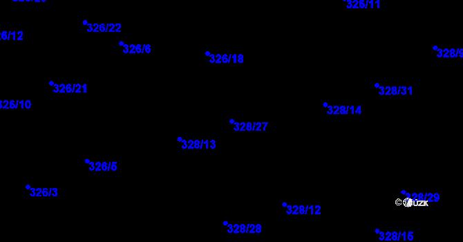 Parcela st. 328/27 v k.ú. Staré Hodějovice, Katastrální mapa