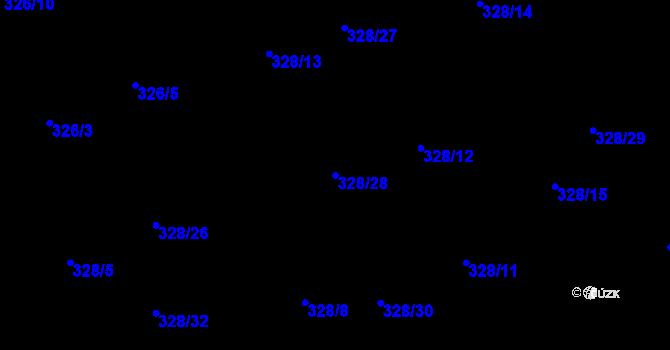 Parcela st. 328/28 v k.ú. Staré Hodějovice, Katastrální mapa