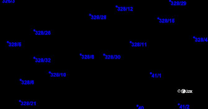 Parcela st. 328/30 v k.ú. Staré Hodějovice, Katastrální mapa