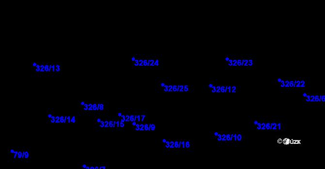 Parcela st. 326/25 v k.ú. Staré Hodějovice, Katastrální mapa