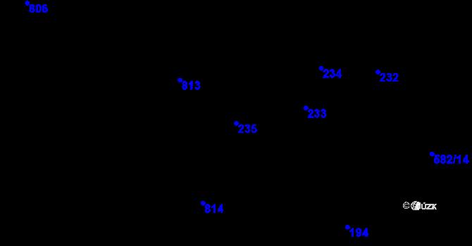 Parcela st. 235 v k.ú. Stehelčeves, Katastrální mapa