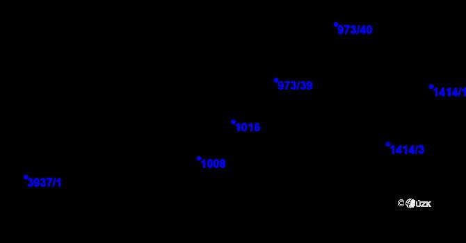Parcela st. 1016 v k.ú. Stod, Katastrální mapa
