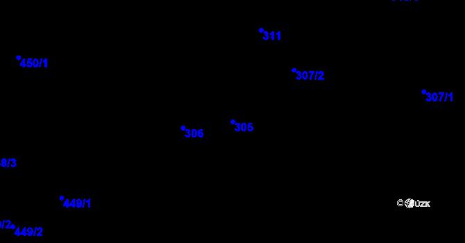 Parcela st. 305 v k.ú. Stonava, Katastrální mapa