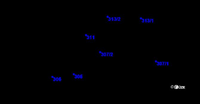 Parcela st. 307/2 v k.ú. Stonava, Katastrální mapa