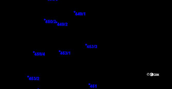 Parcela st. 453/3 v k.ú. Stonava, Katastrální mapa