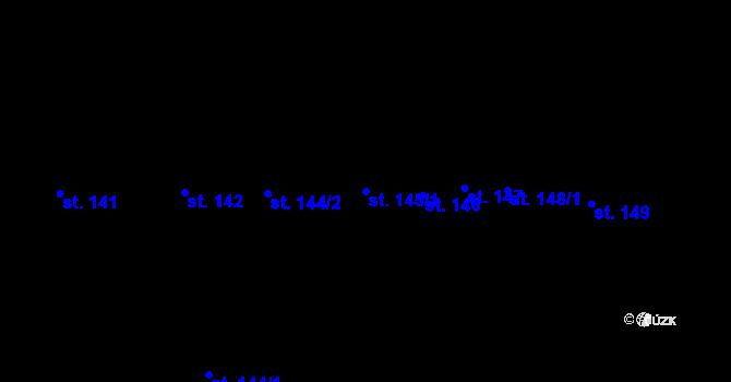 Parcela st. 145/1 v k.ú. Stříbro, Katastrální mapa