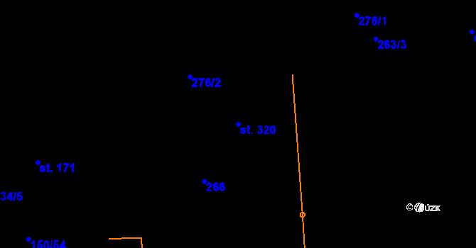 Parcela st. 320 v k.ú. Studánka u Tachova, Katastrální mapa