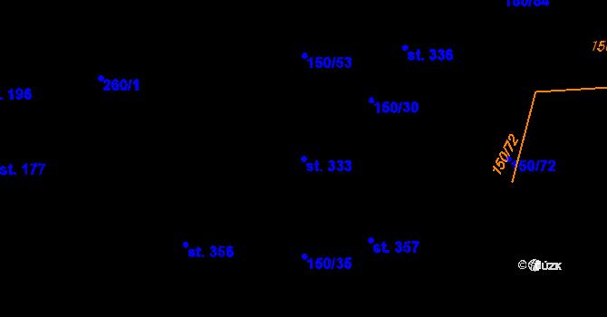 Parcela st. 333 v k.ú. Studánka u Tachova, Katastrální mapa