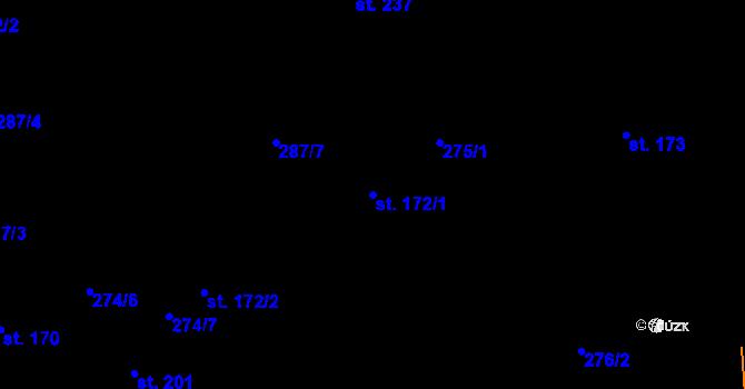 Parcela st. 172/1 v k.ú. Studánka u Tachova, Katastrální mapa