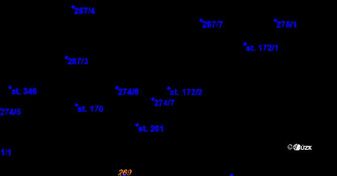 Parcela st. 172/2 v k.ú. Studánka u Tachova, Katastrální mapa