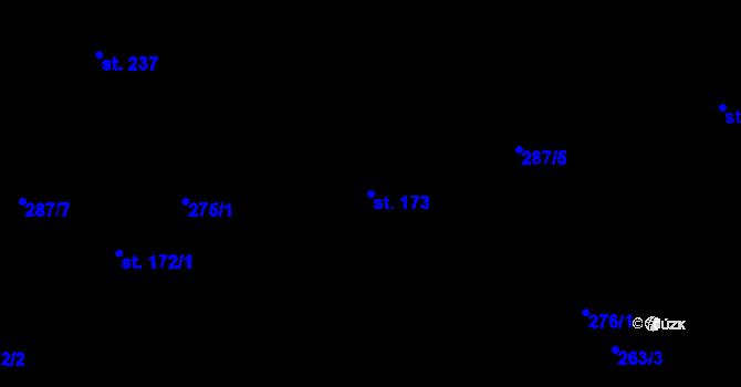Parcela st. 173 v k.ú. Studánka u Tachova, Katastrální mapa