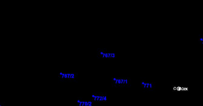 Parcela st. 767/3 v k.ú. Svádov, Katastrální mapa