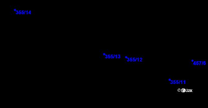 Parcela st. 355/13 v k.ú. Svinary, Katastrální mapa