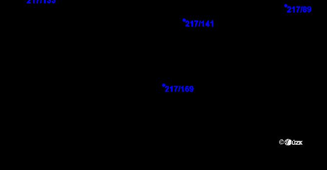 Parcela st. 217/169 v k.ú. Lhota u Šternberka, Katastrální mapa