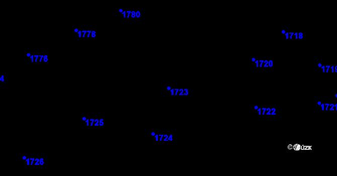 Parcela st. 1723 v k.ú. Motyčín, Katastrální mapa
