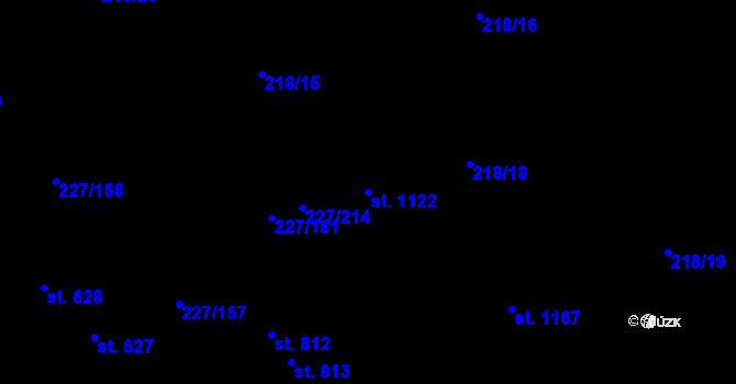 Parcela st. 1122 v k.ú. Hnidousy, Katastrální mapa