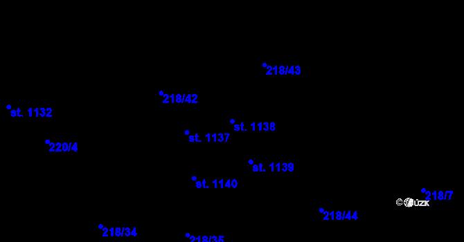 Parcela st. 1138 v k.ú. Hnidousy, Katastrální mapa