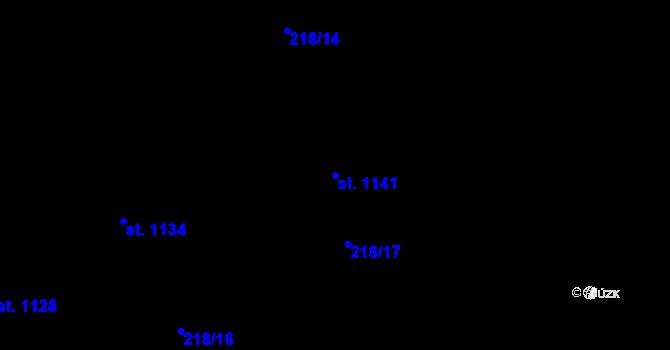 Parcela st. 1141 v k.ú. Hnidousy, Katastrální mapa