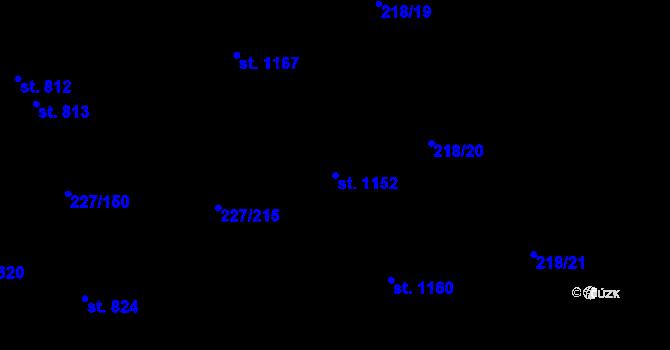 Parcela st. 1152 v k.ú. Hnidousy, Katastrální mapa