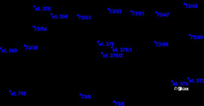 Parcela st. 375/2 v k.ú. Hnidousy, Katastrální mapa