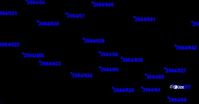 Parcela st. 2984/59 v k.ú. Tachov, Katastrální mapa