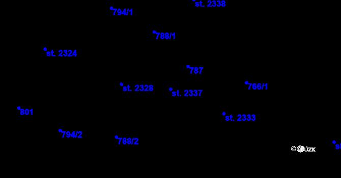 Parcela st. 2337 v k.ú. Telč, Katastrální mapa
